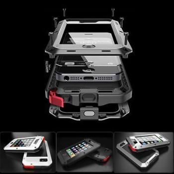 Waterproof Shockproof Aluminum Gorilla Metal Cover Case For Apple iPhone Models Black,For iphone 4 4s